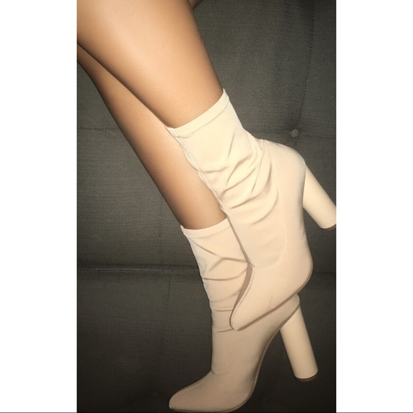 9bb741ced7d Fashion Nova Shoes - Nude Block Heel Ankle Boot